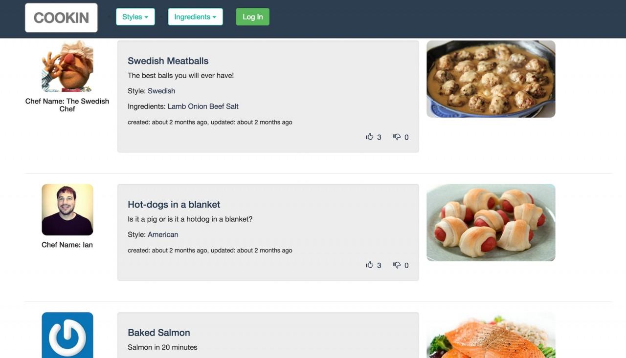 photo of recipe app